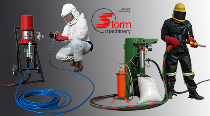 Abrasive blasting and spray painting equipment