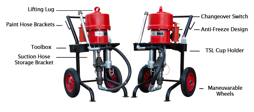 New SX Spray Pump with labels