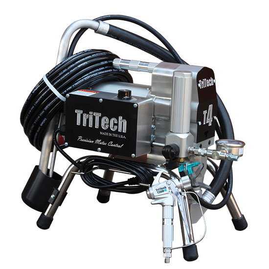 TriTech T4 hose on pump