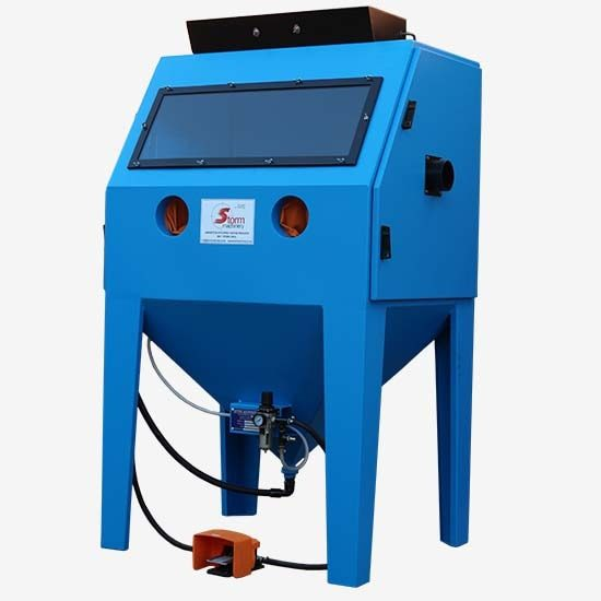 "Blast cabinets, also known as glass blasters, provide a means of enclosed blasting and can be used for commercial as well as industrial blasting. Blast cabinets are used for fine blast applications including decorative blasting and cleaning automotive parts. [themify_button style=""large red square"" link=""http://www.stormmachinery.co.za/sa2016/product-category/blast-cabinets/"" ]See more[/themify_button]"
